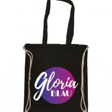 Gloria Blau Merchandise Beutel