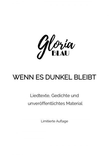 Gloria Blau Merchandise Gedichtband